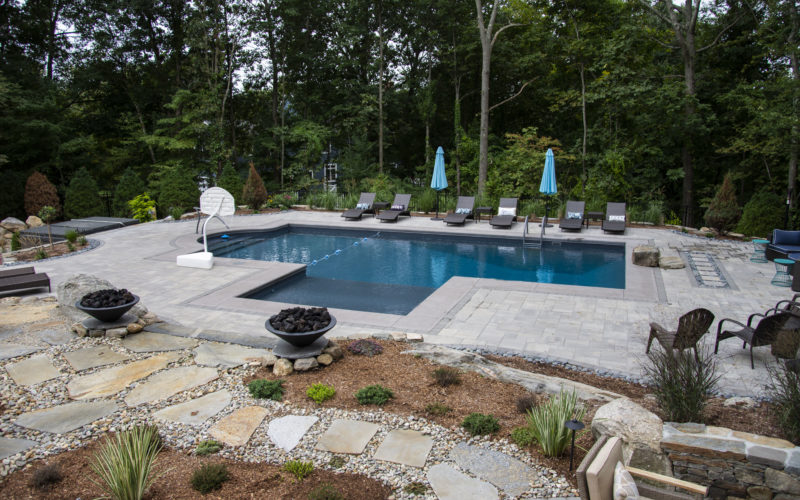 1A Custom Inground Pool - Tolland CT