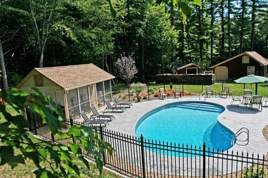 1D Kidney Inground Pool - Stafford, CT