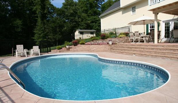 6A Kidney Inground Pool -Somers, CT