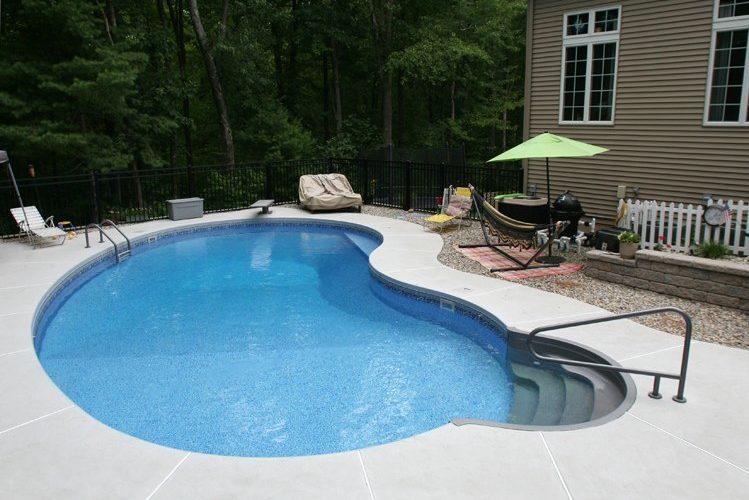 7A Kidney Inground Pool -East Longmeadow, MA