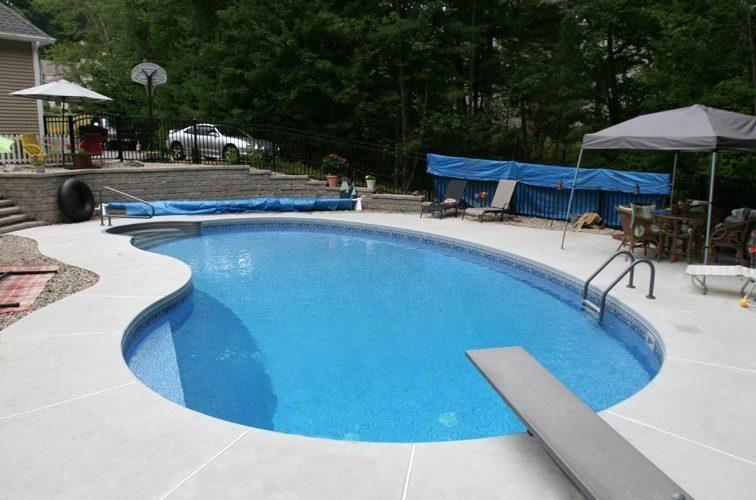 7B Kidney Inground Pool -East Longmeadow, MA