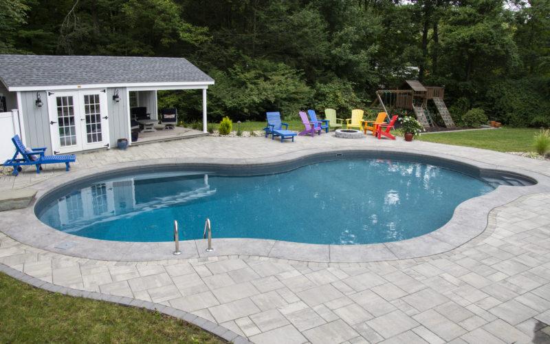 7B Mountain Pond Inground Pool - West Hartford, CT