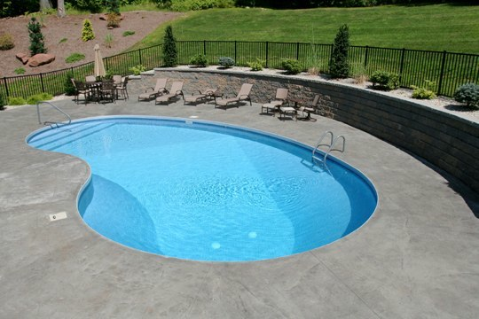 8A Kidney Inground Pool -South Windsor, CT