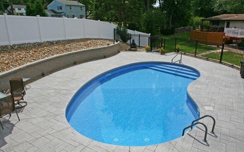 9B Kidney Inground Pool -Vernon, CT