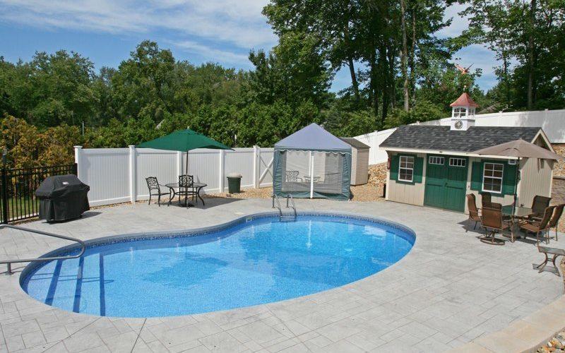 9D Kidney Inground Pool -Vernon, CT